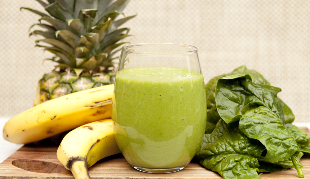 Pineapple and Spinach Smoothie